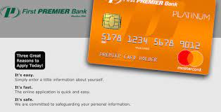 first premier bank credit card account