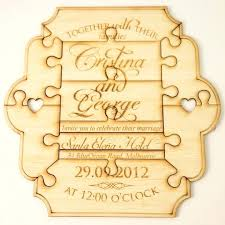 Puzzle Wedding Invitations Relly Encourge Pendnt Vittion Wooden