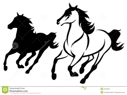 running horse clipart black and white. Brilliant White Horse Run In Running Clipart Black And White E