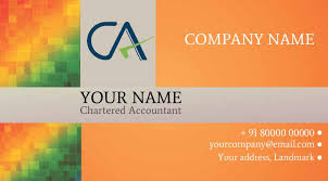 chartered accountant visiting cards