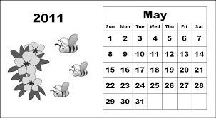 Small Picture and white monthly cute cartoons calendar may coloring pages 420945