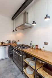 industrial kitchen lighting pendants. Industrial Kitchen | Home Renovation Open Shelving Timber Worktop Hanging Lights Pendants Lighting
