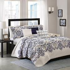 cardiff 6 piece quilted coverlet set by madison park from hayneedle com