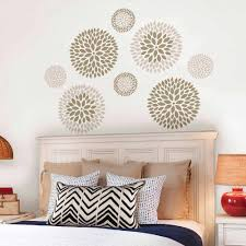 Big Wall Decals For Bedroom Trends Also Wallpops Chrysanthemum Art Pictures  ...