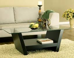 Glass Top Round Coffee Table Black Finish Modern Contemporary - Coffee chairs and tables