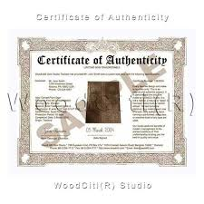 Certificate Of Authenticity Template Custom Cartoon De CiK Authenticity Certificate Card