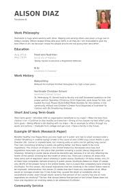 Babysitting Resume Samples Visualcv Resume Samples Database