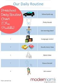 Afternoon Routine For Preschoolers Free Printable Preschool