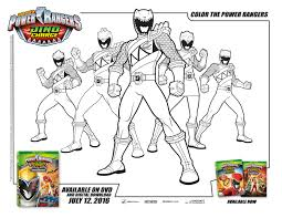 Power Rangers Dino Thunder Coloring Pages Characters Charge