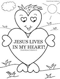 Small Picture Valentines Day Coloring Page for Sunday school Jesus Lives In My