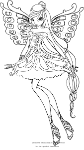 Disegno Di Musa Butterflix Winx Club Da Colorare