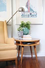 Midcentury Modern Side Table DIY Love midcentury furniture and decor? Learn  how to make your your midcentury modern side table!