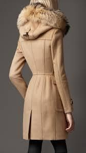 burberry fur trim hooded duffle coat 38448801 iluxdb com