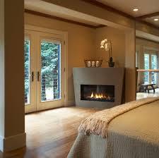 modern fireplace design ideas set in corner brown decor bedroom