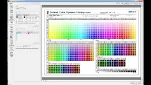 Printing Colour Chart Roland Versaworks Printing The Roland Colour Systems Library