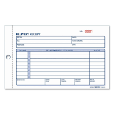 Payment Receipt Book Amazon REDIFORM Delivery Receipt Book Carbonless 2424 x 1