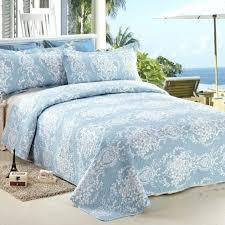 bedspread coverlet set quilt size light blue duvet cover twin xl ticking stripe