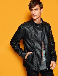 cabinet glamorous leather look mens jackets 22 8kam21216lw999 g01 zoom1 v02 leather look mens