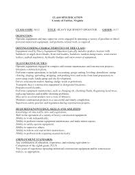 Bunch Ideas Of Heavy Equipment Operator Resume Example