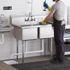 regency stainless steel commercial sink