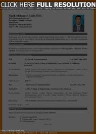 Best Resume Format For Freshers Resume Work Template