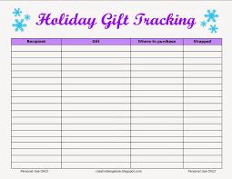 Gift Tracker Free Holiday Gift Tracking Sheet Creativities Galore