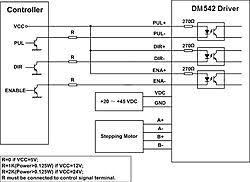 dm542a for driving nema 23 425 oz Dm542a Wiring Diagram dm542a for driving nema 23 425 oz typical connection dm542 jpg Basic Electrical Schematic Diagrams