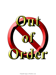 Out Of Order Sign Printfree Com