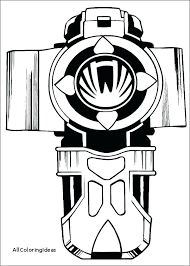 Green Power Ranger Coloring Page Betterfor