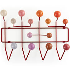 Eames Coat Rack Walnut Eames Hang It All Coat Rack Red 40
