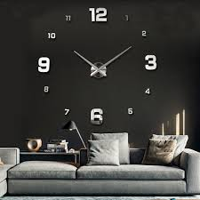 large diy 3d wall clock home decor mirror sticker art
