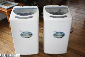 haier portable washing machine. Haier 1.0 Cubic Foot Portable Washing Machine:\u20221.0 Stainless-steel Tub Washes Up To 10 Larger Men\u0027s T-shirts Machine