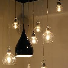 110 V 220 V Loft Vintage Hanglamp Armaturen E27 Bollen Glas