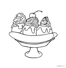 Small Picture Banana Split Coloring Page 13202