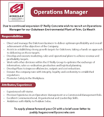 Operations Manager - O'reilly Concrete