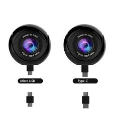 huawei 360 panoramic vr camera. lcose 360 degree vr panoramic fisheye 1080p video camera micro +type c for samsung xiaomi huawei vr