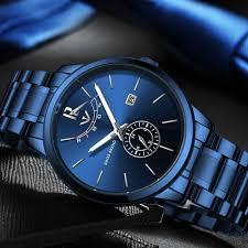 NIBOSI Luxury Brand <b>Watches Men</b> Stainless Steel Mesh Band ...