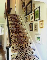 leopard stair runner rug for home decoration ideas awesome stair runners elements style blog leopard