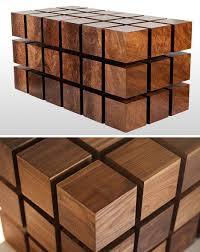 wood cubes furniture. Just The Beginning Of This Design-Tensile Table: Floating Wood Furniture Levitates Via Magnets Cubes B
