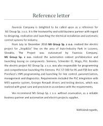 Pattern Of Reference Letter Sample Business Reference Letter Template Templates