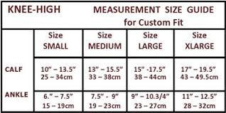 Activa Compression Socks Size Chart Activa Knee High 30 40 Mmhg