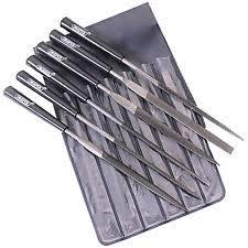 metal file. draper 6pce needle file set precision jewellers small jewelry metal 140mm o