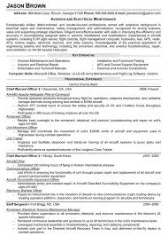 Avionics and Electrical Maintenance Resume (Sample)
