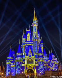 cinderella castle s holiday projections