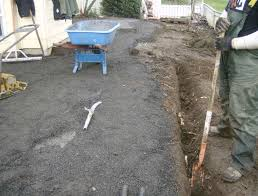 the relative thickness is of the material we lay the pavers on you can see better by noticing the scuffed part exposing the original cement patio