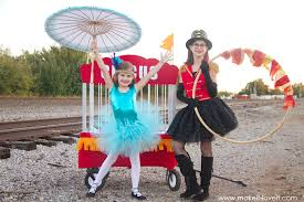 how to make circus themed costumes tight rope walker lion tamer