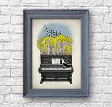 piano art music poster autumn print studio wall decor on piano themed wall art with piano art music poster autumn print studio wall decor house redo