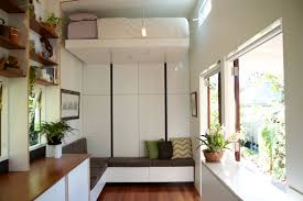 tiny home furniture. Having A Loft Bed Also Makes Tiny House Less Versatile For People Who Can\u0027t Climb Up And Down The Ladder, Low-ceiling Space Can Feel Cramped. Home Furniture D