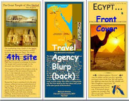Egypt Travel Brochure Examples