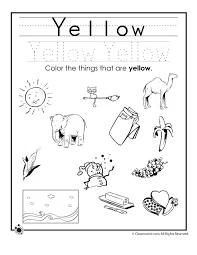 Color Yellow Worksheet   ESCUELITA   Pinterest   Preschool ...